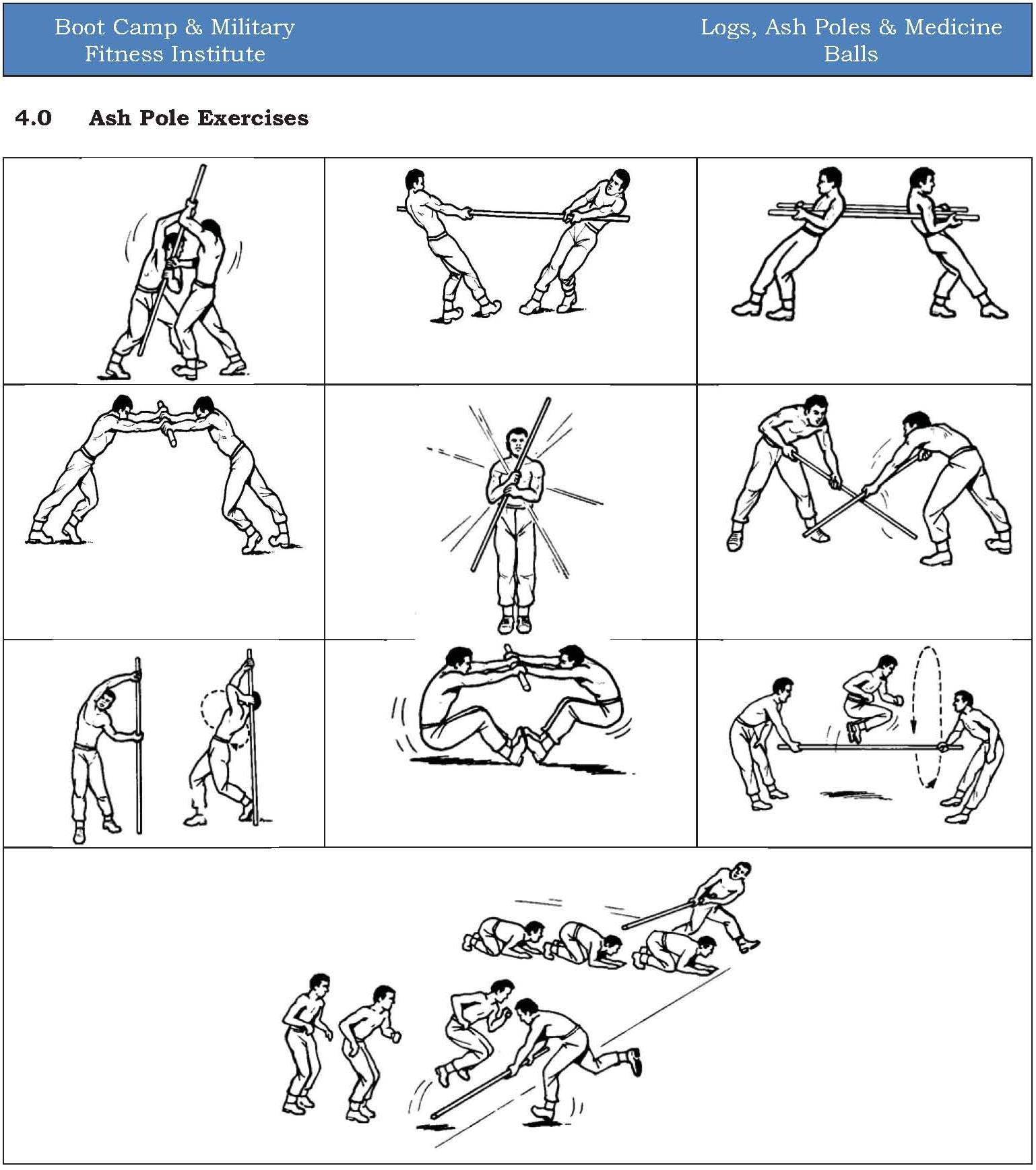 Exercise, Ash Poles