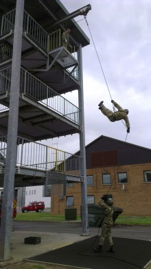 148 Battery, Abseiling