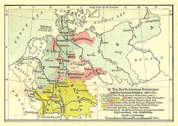 Map of the German Empire 1871
