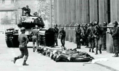 Chilean troops make arrests during the military coup
