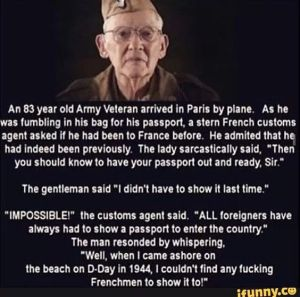 US Veteran & French Passport